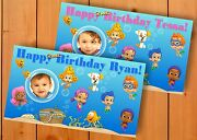 Bubble Guppies 4 Ft. By 2.5 Ft. Birthday Banner Personalized Custom Design Party