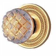 Phylrich 105157_024 - Door Hardware Door Knob And Rose Only, Cut Crystal Handle