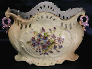Cachepot Antique Royal Rudolstadt Hp With Gold Accents Circa 1877