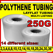 Layflat Polythene Poly Tubing Tube All Sizes And Qtys Clear- 250 Gauge 336m Roll