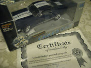 118 Eagle's Race Shelby Gt350 Blue White Signed Autographed Shelby