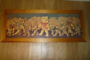 Teddy Bears Band - Print On Wood Pane - 22 By 53 Inc Frame - Collection Only