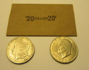 20 Coin Wrappers For Morgan Peace Eisenhower Ike Silver Dollar Coins Paper