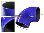Blue Elbow 2.5 63mm 4-ply Silicone Coupler Hose Turbo Intake Intercooler Ford