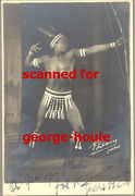 Joe Alex - Photograph - Signed - African American Actor - Indian - Bow Arrow