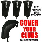 100 Sets Wholesale New Thick Black Hybrid 3 4 5 Golf Club Full 300 Head Covers