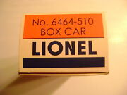Lionel 6464-510 Nyc Pacemaker Girl's Box Car Licensed Reproduction Box
