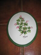 Timo Thyme Ceramic Wall Plaque 7x9 Made In Italy
