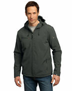 Port Authority Menand039s Long Sleeve Microfleece Textured Hooded Shell Jacket. J706