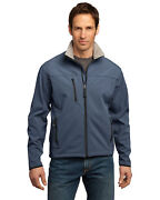 Port Authority Menand039s Long Sleeve Front Zipper Stretch Glacier Shell Jacket. J790