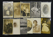 Real Photo Rpp Postcard 39 Mix People Lot