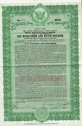 Usa Wicks Store And Office Building Gold Bond Stock Certificate 1924 Illinois