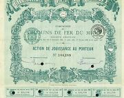 France Railways Of Southern France Stock Certificate 1898