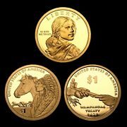 2011 2012 2013 S Sacagawea Native American Mint Proof Us Coins From Proof Set