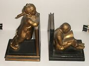 Pair Of Chinese Cast Metal Bookends By Ronson