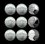 2011 2012 2013 P+d+s Jefferson Nickel Mint Proof Set And Pd From Bank Rolls