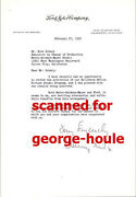 Henry Ford Ii - Letter - Autograph - 1956 - Dore Schary - Mgm - Detroit