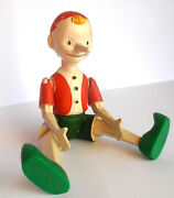 1930s Vintage Ussr Russian Soviet Crushed Plastic Toy Doll Pinocchio Buratino