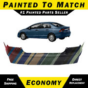 Painted To Match - Rear Bumper Cover Replacement For 2006-2011 Honda Civic Sedan