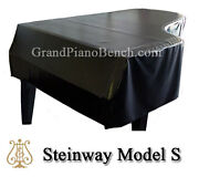 Steinway Black Vinyl Grand Piano Cover Model S - 5and0391 - Side Slits