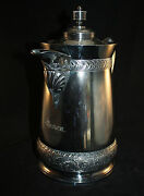 Victorian Meriden Double Wall Ice Pitcher Silver Plate American Aesthetic