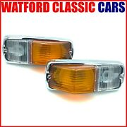 Mgb Side-lamp Assembly / Sidelight Pair . Suitable All Chrome Bumper Models