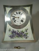 Antique Sterling Silver Enamel Watch Holder And Watch