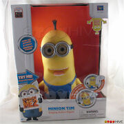Despicable Me 2 Minion Tim Talking Singing Action Figure By Thinkway Toys - Worn