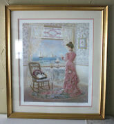 Lee Dubin Victorian Lithograph - The Letter