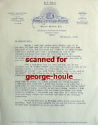 George Cukor - Letter - Signed - - Olin Howland - Little Women -  Gwtw