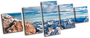Snowy Mountain Germany Landscapes Multi Canvas Wall Art Picture Print Va