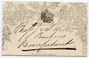 1843 1d Mulready Clerical Medical And General Life Assurance Society Ex Wales