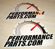 Performance Parts Dot Com Car Auto Racing Decals Stickers 4.75 X 7.5 In Set 2