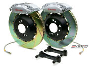 Brembo Rear Gt Brake 4p Silver 345x28 Slot Rotor Benz Cls63 Cls550 Cls55 Cls500