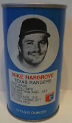Vintage 1977 Rc Cola Steel Can Opened Mike Hargrove Texas Rangers