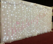 White Starlight Curtain Led Backdrop Led Star Cloth With Detachable Swag