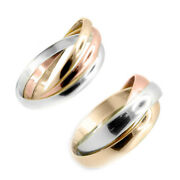 9ct Gold Wedding Ring Hallmarked Multi-coloured Ring Finger Size J To Q