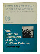 Civilian Defense By Gene Sharp Signed First Edition 1965 Nonviolence 1st Mlk