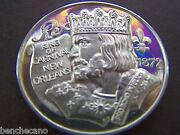 1973 Rex Kings And Queens Of Fact And Fiction Fine Silver Mardi Gras Doubloon + Case