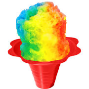 Shaved Ice Or Snow Cone Flower Cups 8 Ounce Medium, Case Of 1000, 4 Colors