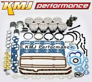 Small Block Chevy 350 Engine Rebuild Overhaul Kit W/ Pistons Rings And Bearings