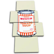 Tesco Soup Can Banksy Painting Multi Canvas Wall Art Picture Print Va