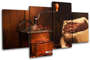 Coffee Grinder Beans Food Kitchen Multi Canvas Wall Art Picture Print Va