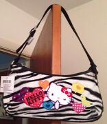 Sanrio Hello Kitty Zebra Print Plush Purse And Matching Wallet. Out Of Print
