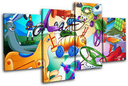 Toys Games For Kids Room Multi Canvas Wall Art Picture Print Va