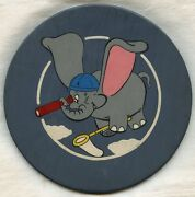 Wwii Hand-painted Usn Air And Sea Rescue Squadron 1 Vh-1 Disney-designed Plaque
