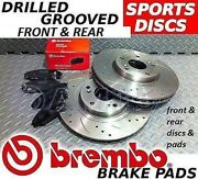 Vw Golf 1.9 Tdi 130hp 96kw Front Rear Drilled Grooved Brake Discs And Brembo Pads
