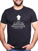 Awesome Bricklayer T Shirt Mens Ladies Xmas Gift Tools Trowel Builders Hod Boot