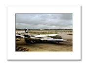 Mounted Photographic Print - Boac Comet At London Airport 10 X 12 Inch