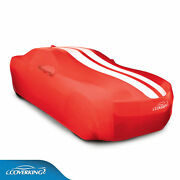 Coverking Satin Stretch™ Indoor Car Cover Red/white Stripes 2010-15 Camaro Coupe